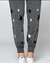 Star Print Jogger Pants