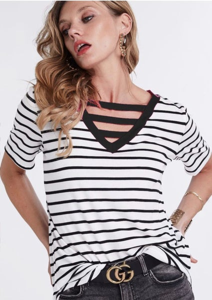 Classic Chick Striped Top - 4 Colors!