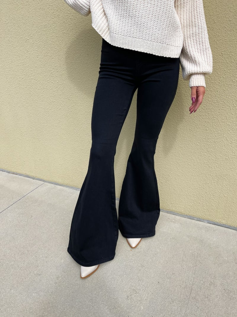 Judy Blue Groovy Baby High Rise Super Flare Jeans