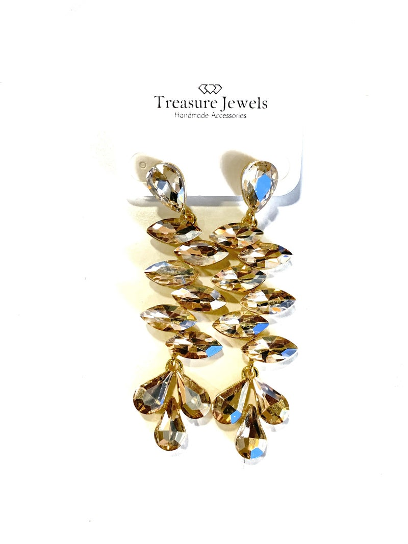 Treasure Jewels Aria Drop Nude Earrings