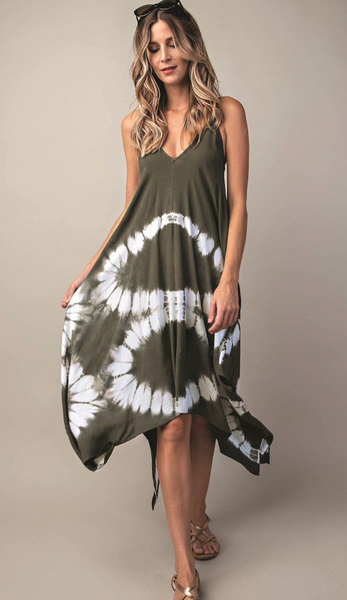 Sand And Sea Tie-Dye Dress