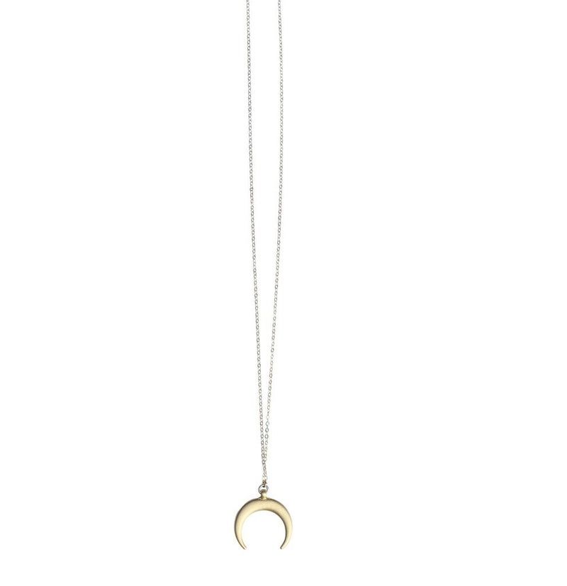 Gold MID LENGTH CRESCENT NECKLACE