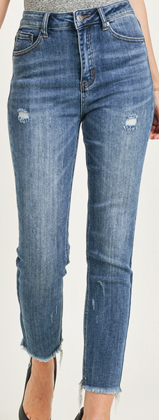 Risen To The Occasion Rise Vintage Relaxed Fit Skinny Jeans