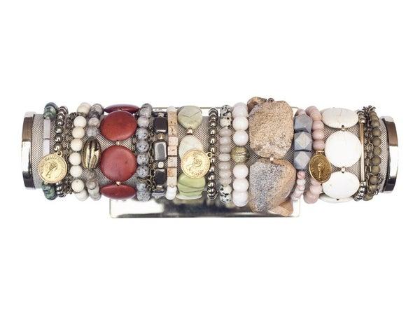 Detailed Beaded Stretch Bracelets