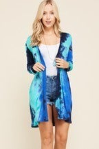 Ocean Blues Tie Dye Cardigan