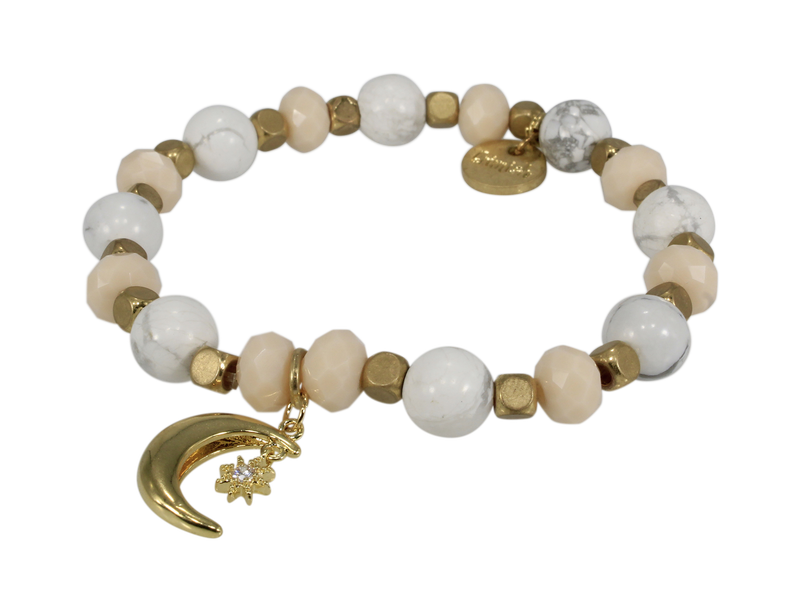 Erimish Moon + Star Stretch Bracelet