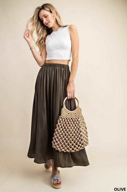 Going With The Flow Skirt-2-COLORS !