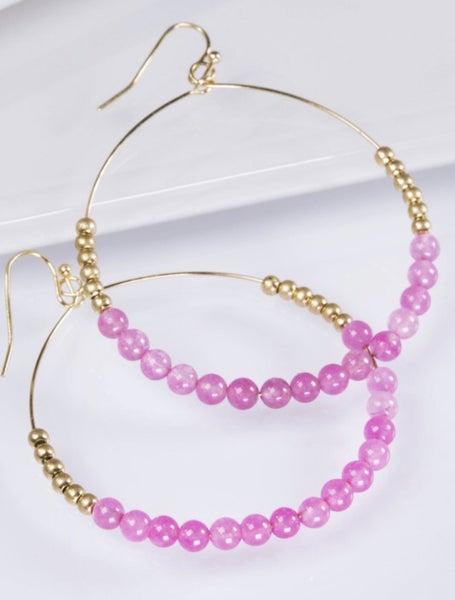 Open Stone Earrings
