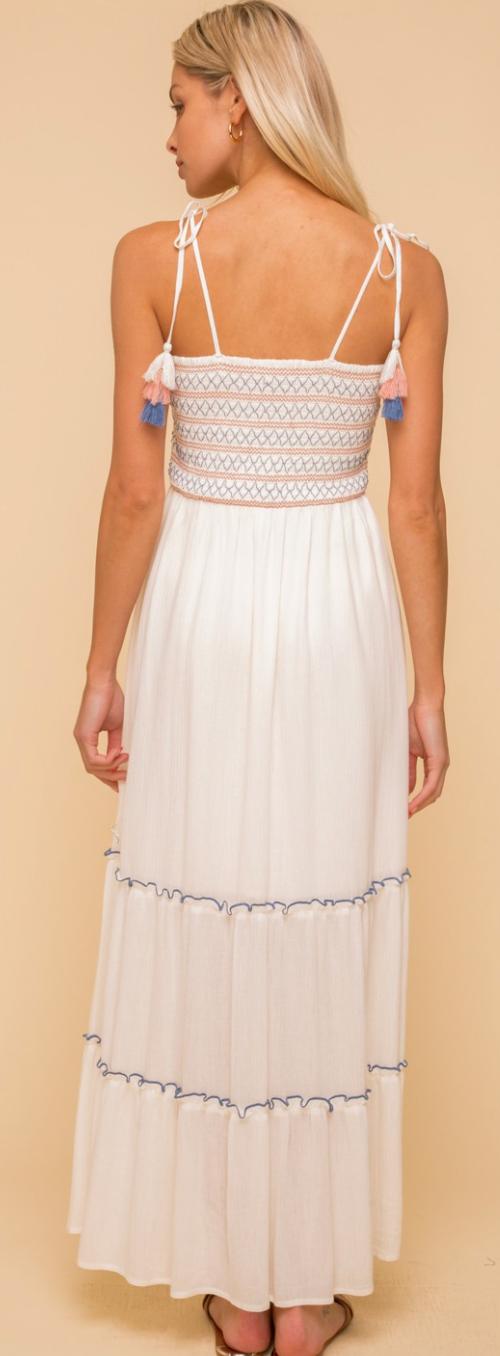 Tiers Of Tassel Maxi Dress