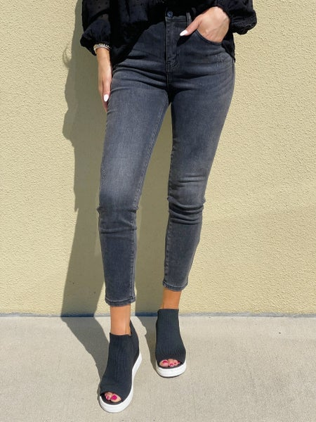 Risen June High Waisted Grey Jeans