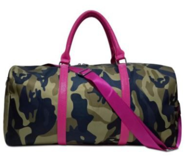 Camo Weekender Travel Duffle Bag