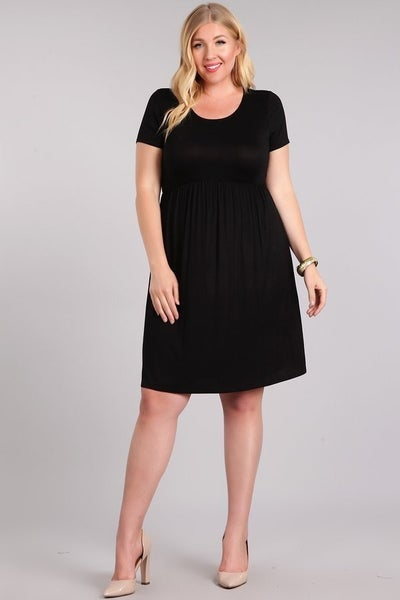 BABYDOLL DRESS (BLACK)