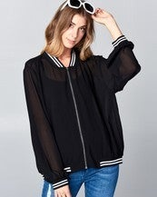 Sheer Baseball Jacket