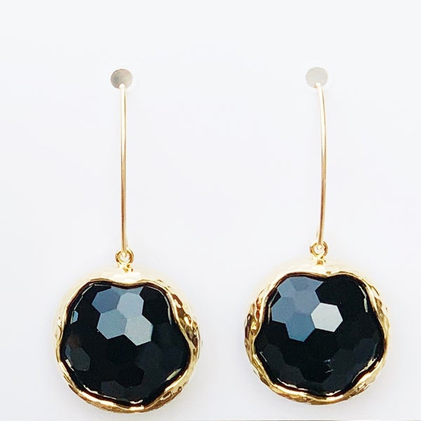 Onyx Shine Bright Drop Gem Earrings