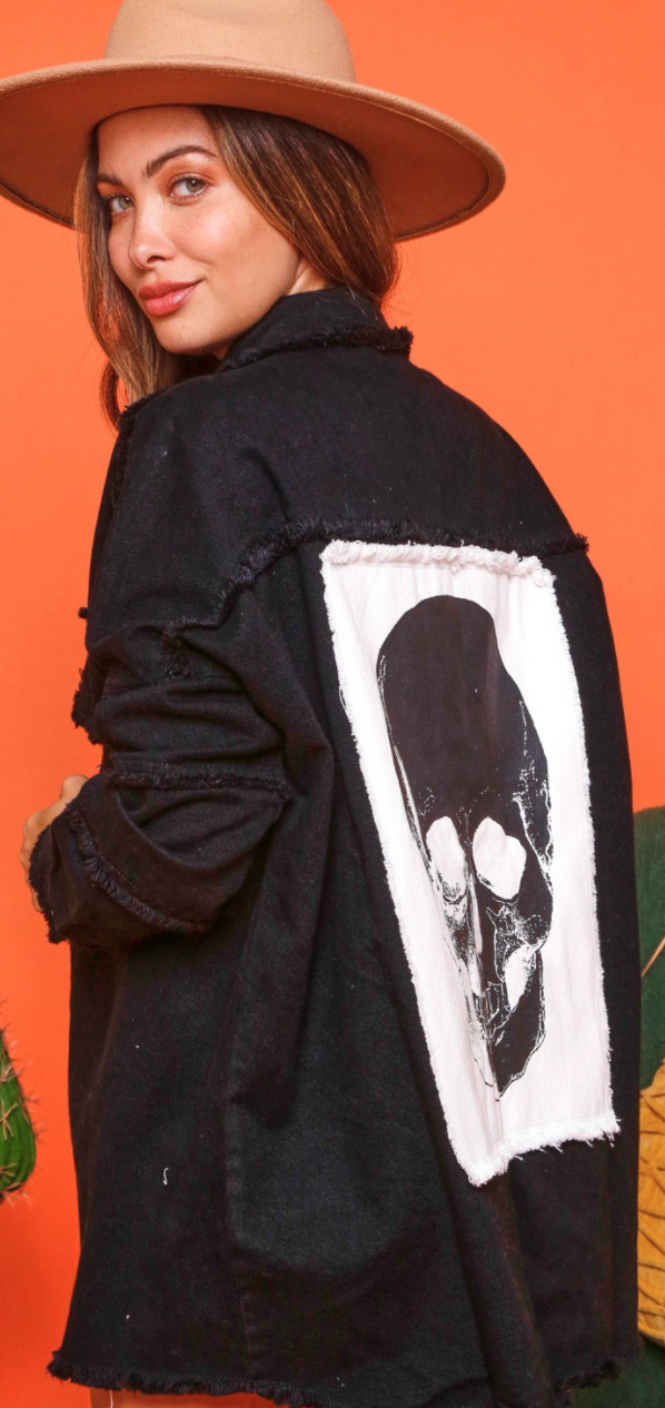 Skull Patch Jacket - 2 Colors!
