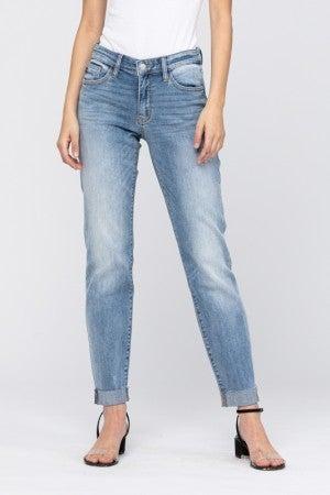 Judy Blue Walk The Talk Mid Rise Boyfriend Jeans