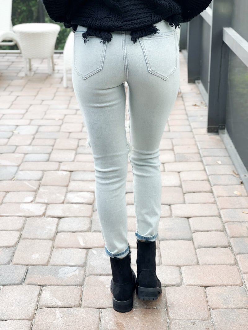 Eunina Know Why Bella High Rise Cropped Skinny Jeans