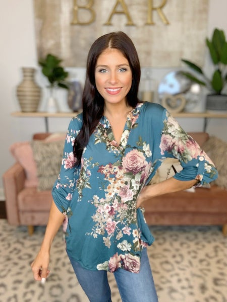 Floral And Decor Top - 3 Colors!