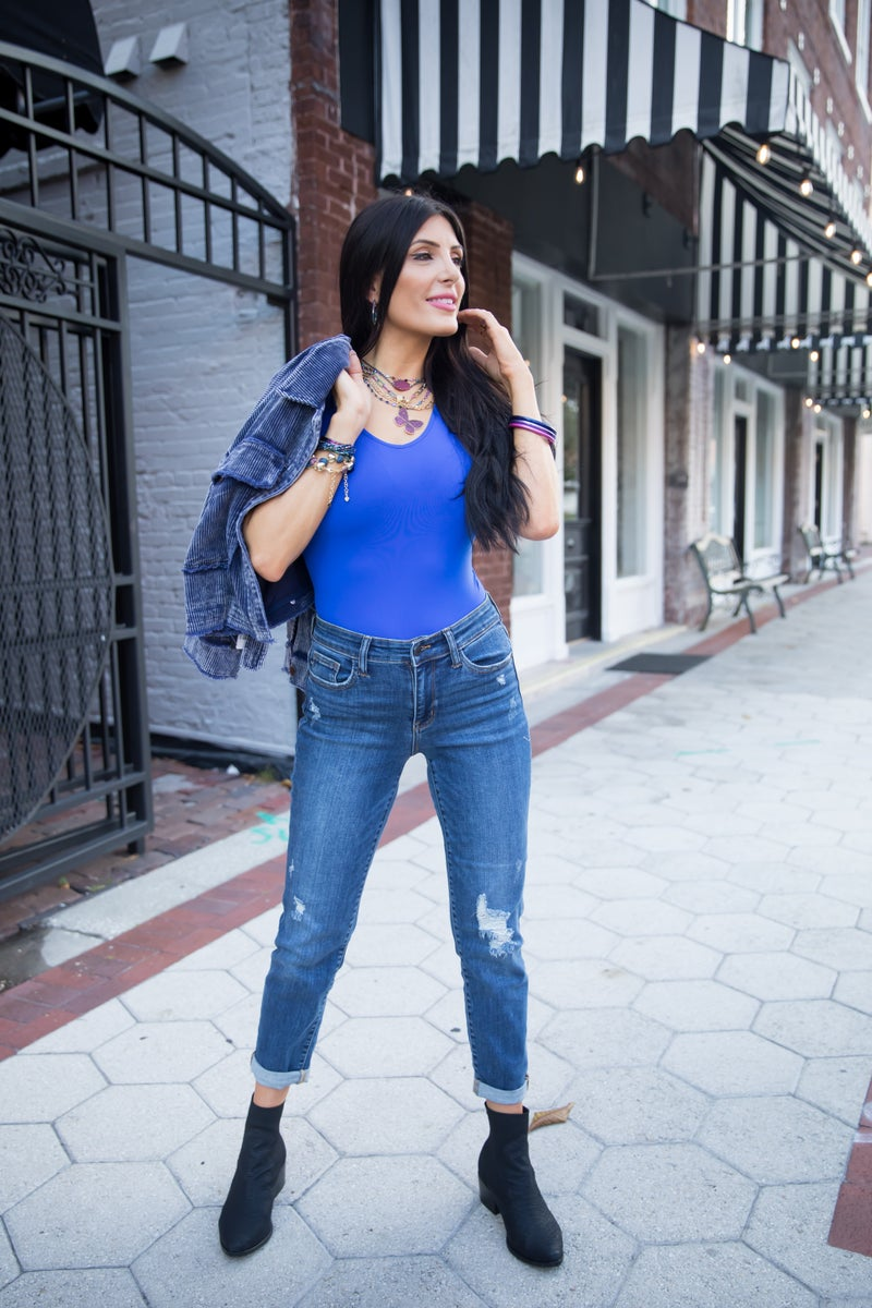 Judy Blue Not Your Mama's Boyfriend Mid Rise Jeans