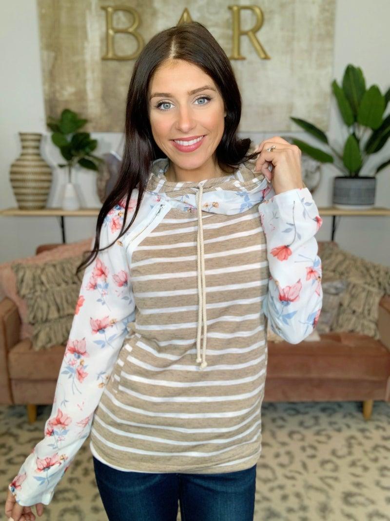 Sandra Floral  Hoodie
