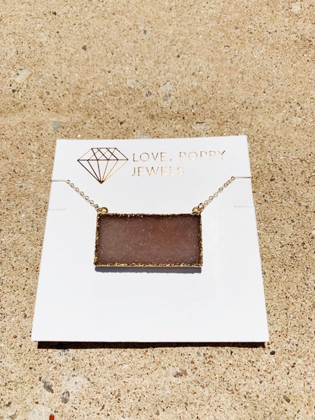Druzy Beauty Bar Necklace