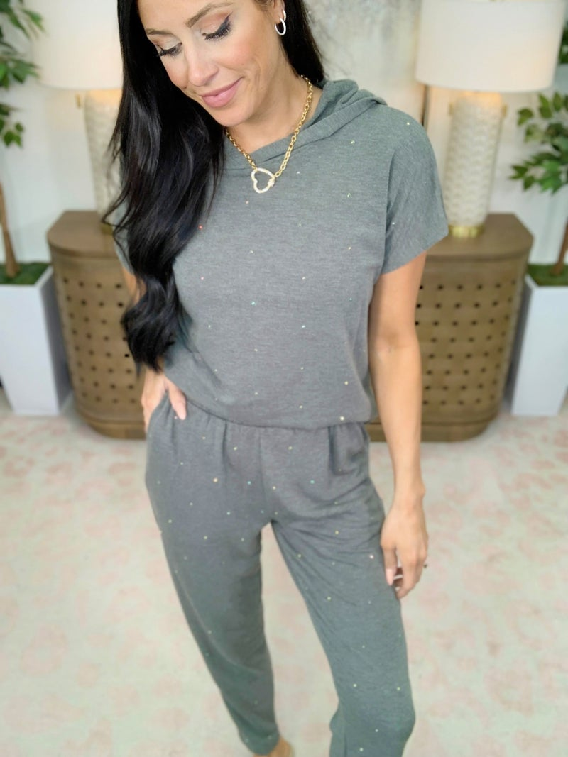 Sprinkle Studded Joggers - 2 Colors!