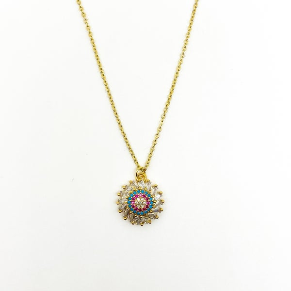 BB Lila Pinwheel Necklace