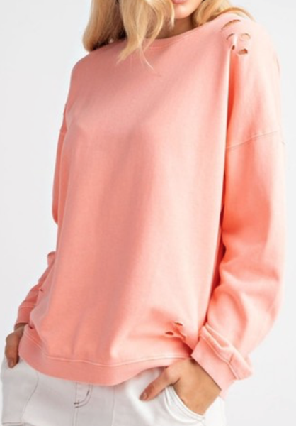 Don't Waste Another Moment Coral Sweatshirt