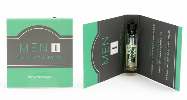 Mixologie Fragrance For Men Sample Cards