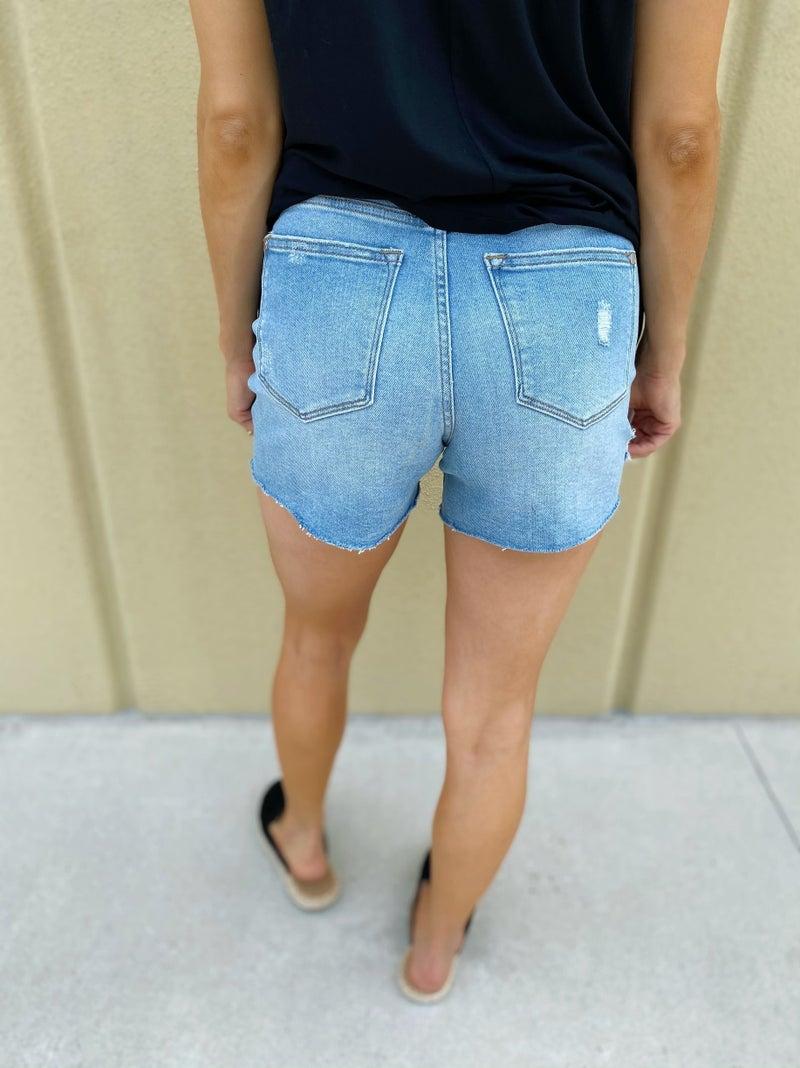 Judy Blue Summer Time View Denim Shorts