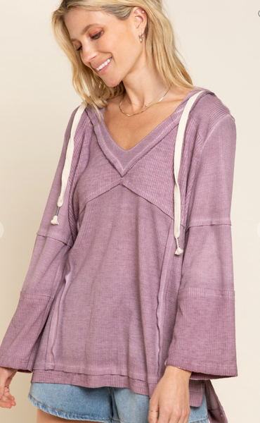 Not SO Basic Knit Hooded Top - 2 Colors!