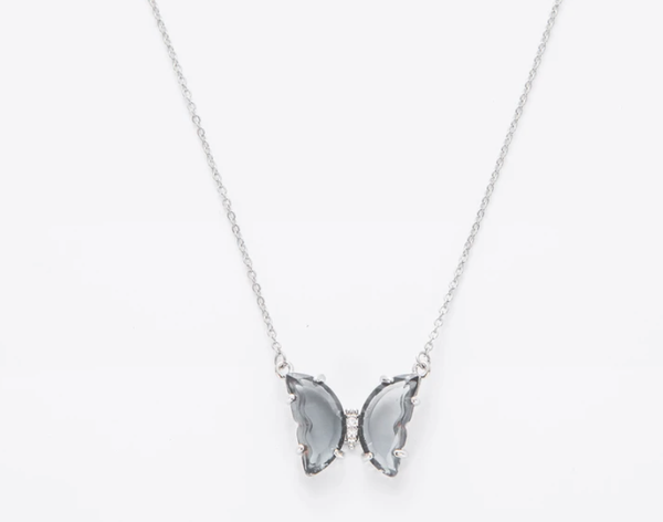 Melania Clara Cali Butterfly Silver Necklace - 3 Colors!