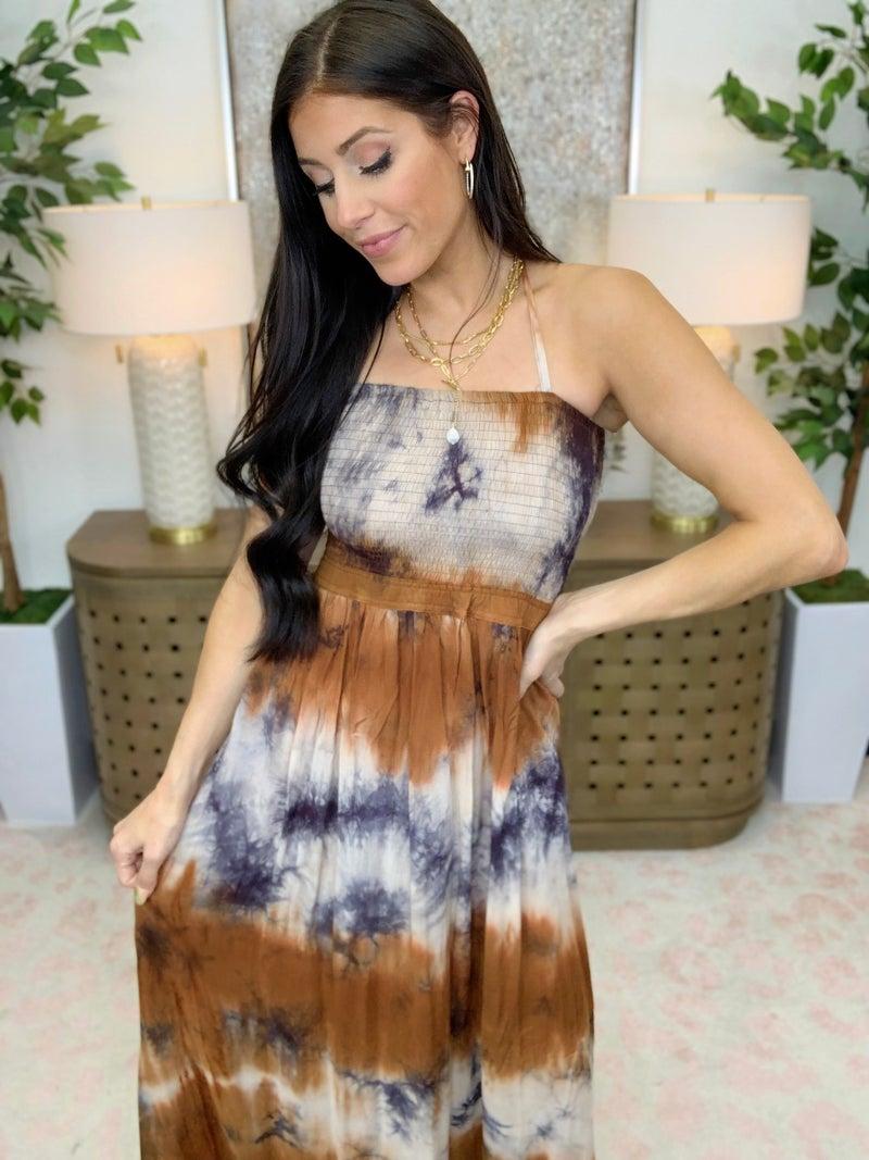 Meet Me At The Halter Maxi Dress