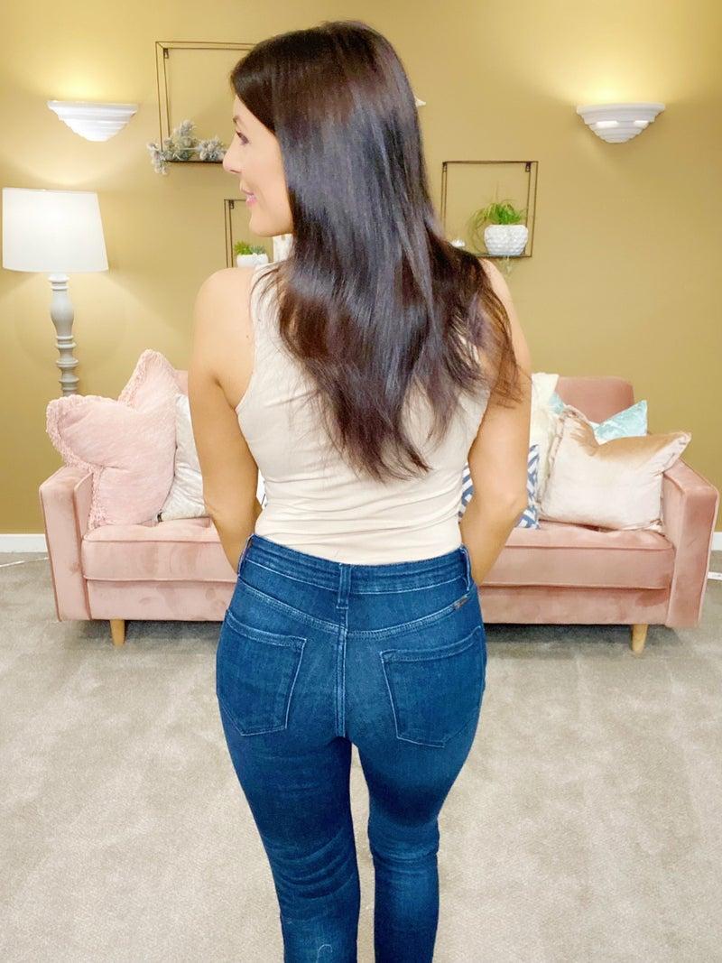 Kancan Hips Don't Lie High Rise Skinny Jeans