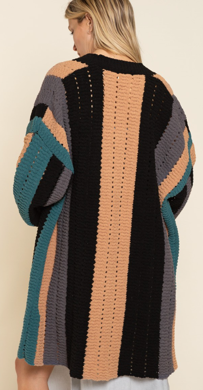 Embolden Stripe Cardigan Sweater - 3 Colors!