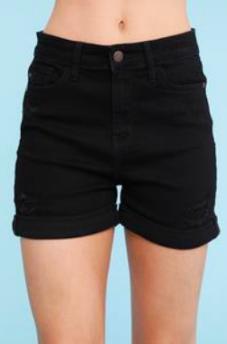 Judy Blue Dead Of Night Black Shorts
