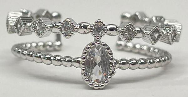 Melania Clara Royal Ring - Silver