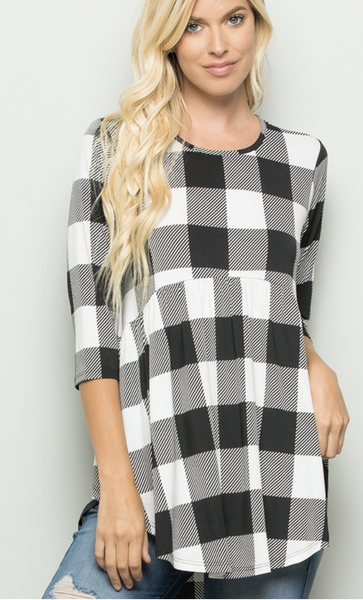 Falling For You Plaid Top