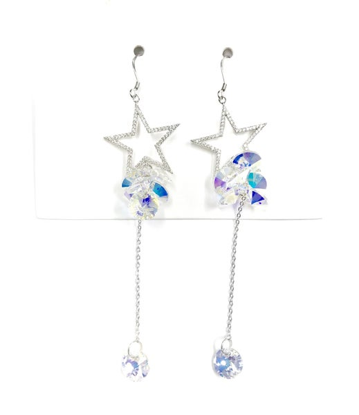 Love Poppy Swarovski Star Dangle Earrings