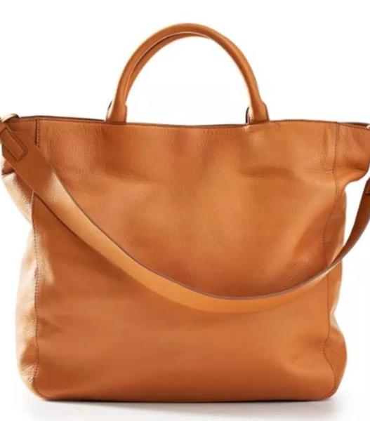Peace Love Vegan Leather Shoulder Bag - Camel