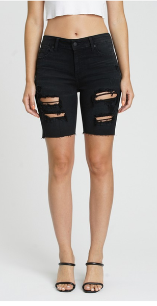 Kailey High Rise Midi Shorts