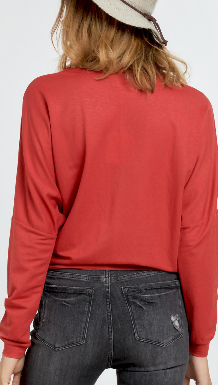 Maroon Vibes Top - 2 Colors!