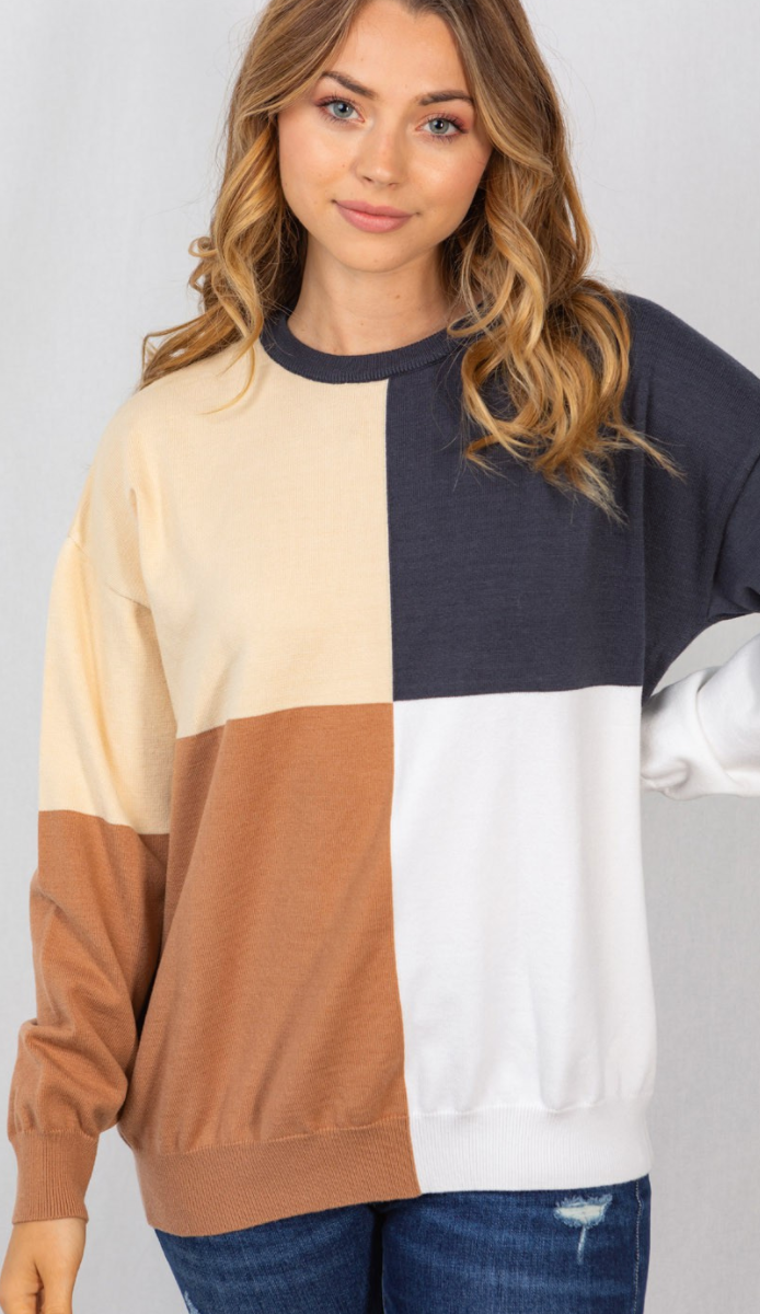 Four Square Sweater - 2 Colors!