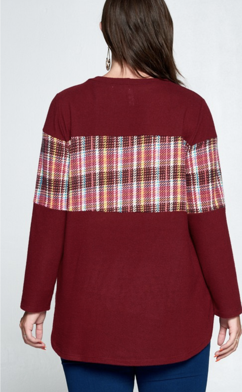 Paint The World Plaid Tunic Top