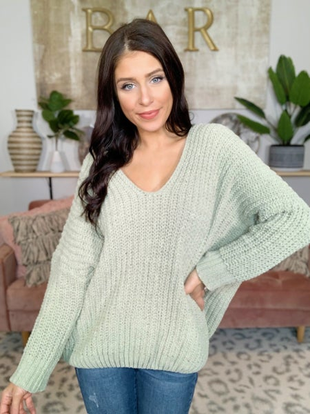 Together Forever V-Neck Chunky Knit Sweater