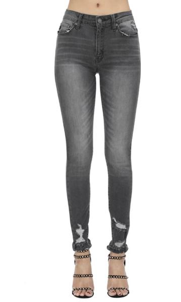 KanCan Weathered Grey Skinny Jeans
