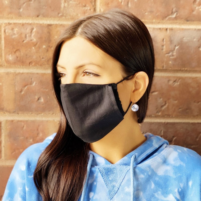 Blue Tye Dye + Black Facial Masks - 2 Pack!