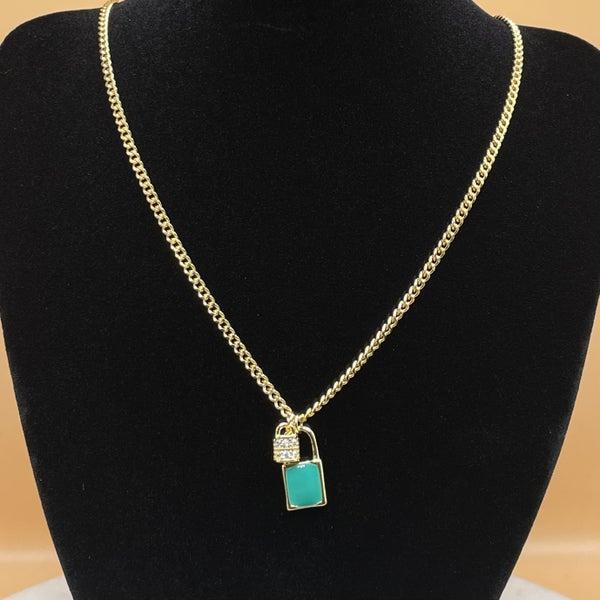 Melania Clara Lock Necklace Gold - 2 Colors!