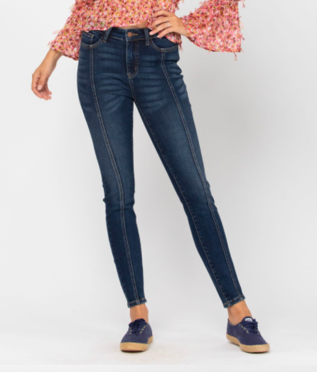 Judy Blue Is Upon You Mid Seam Stitch Skinny Jeans