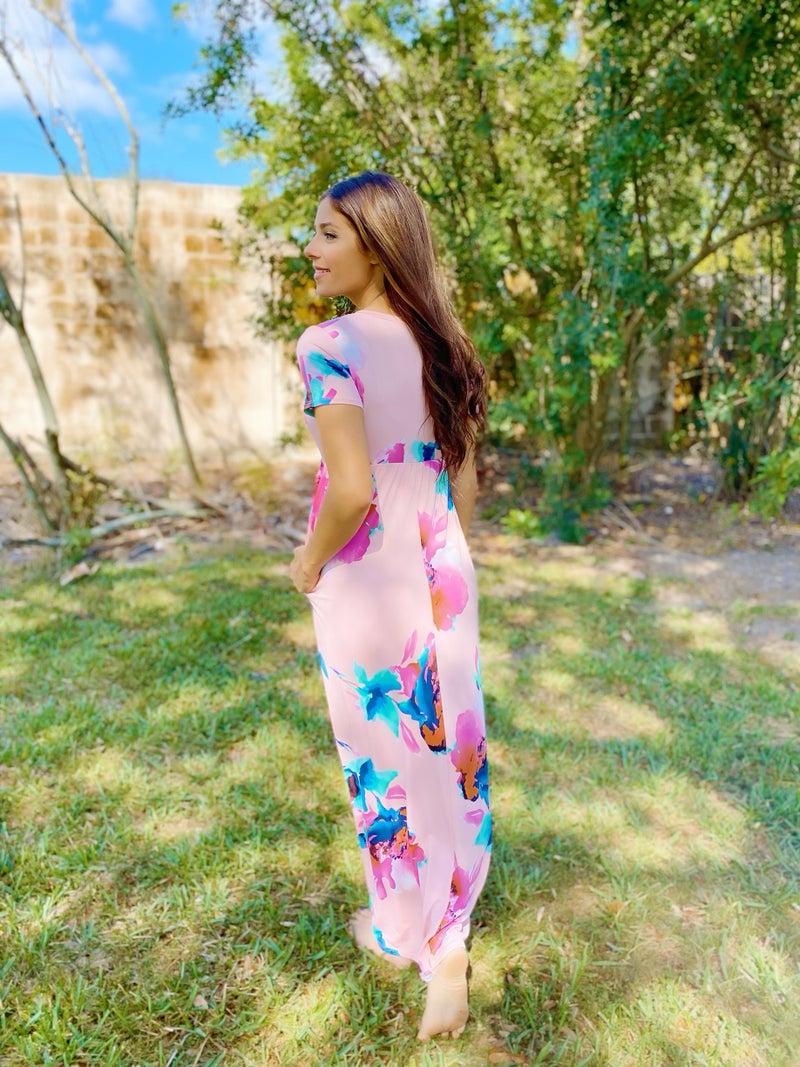 Flower Bouquet Maxi Dress